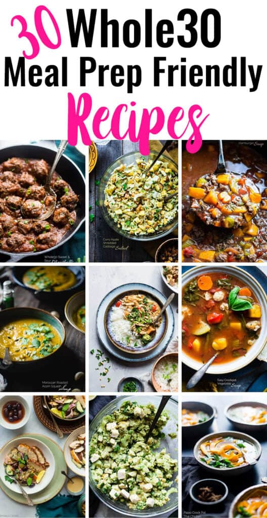 30+ Whole30 Meal Prep Recipes collage photo
