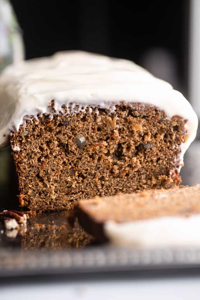 close up view of Carrot Cake Bread
