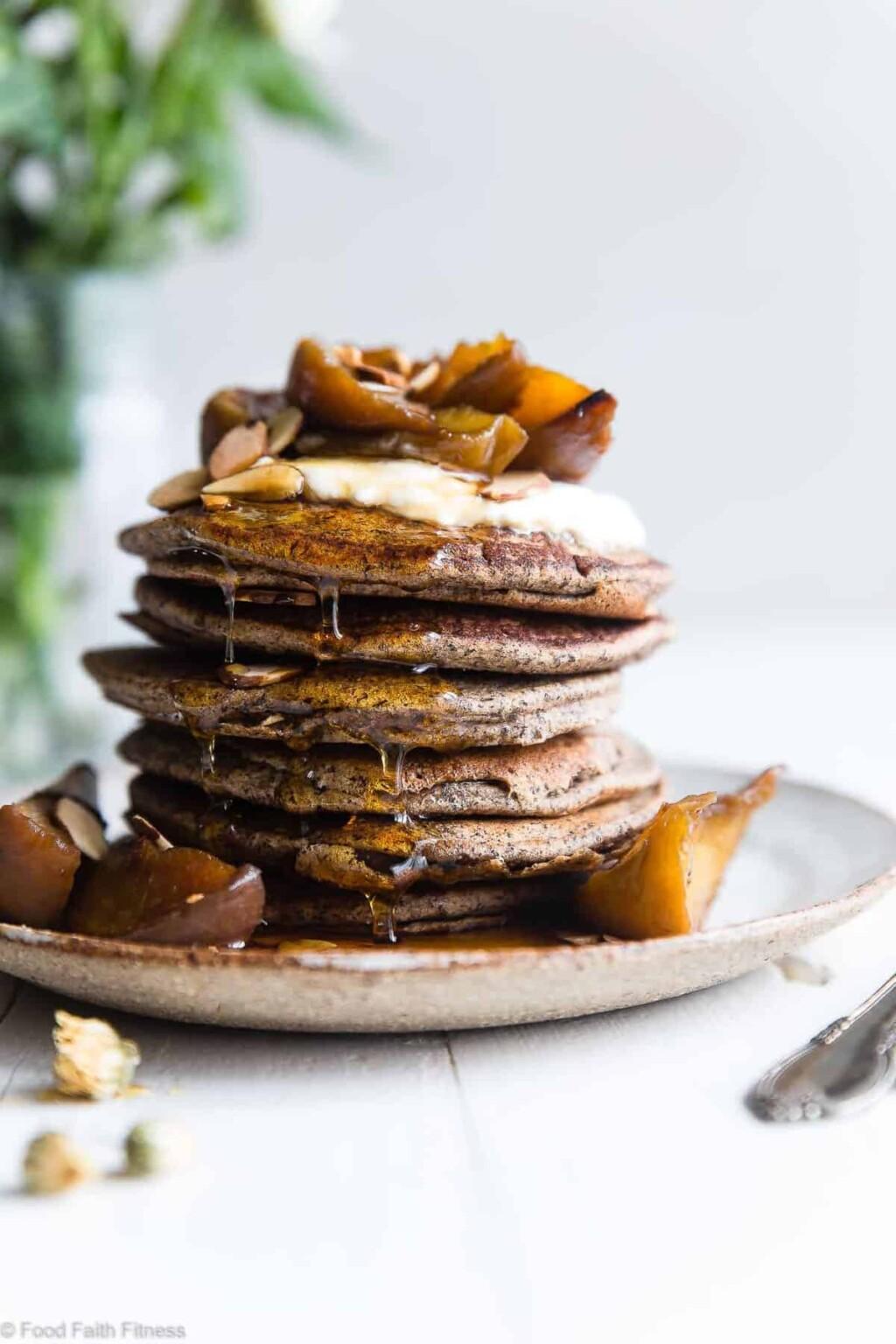 healthy gluten free buckwheat pancakes pic