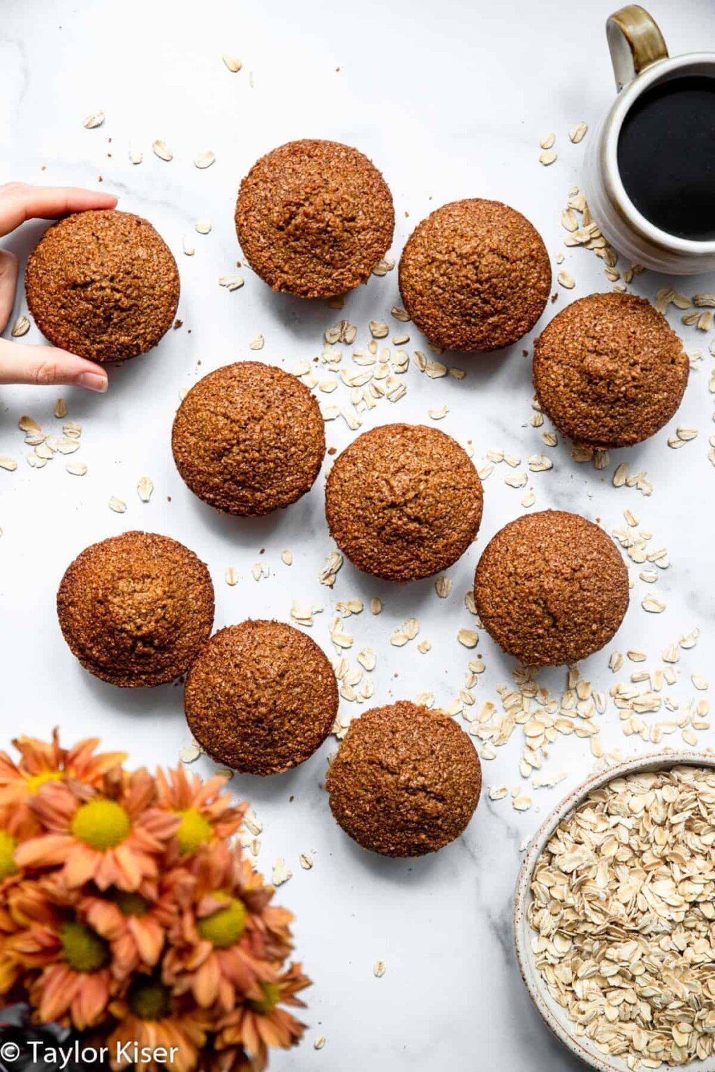 healthy oat bran muffins pic