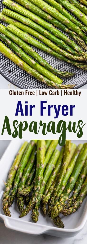 Air Fryer Asparagus collage photo