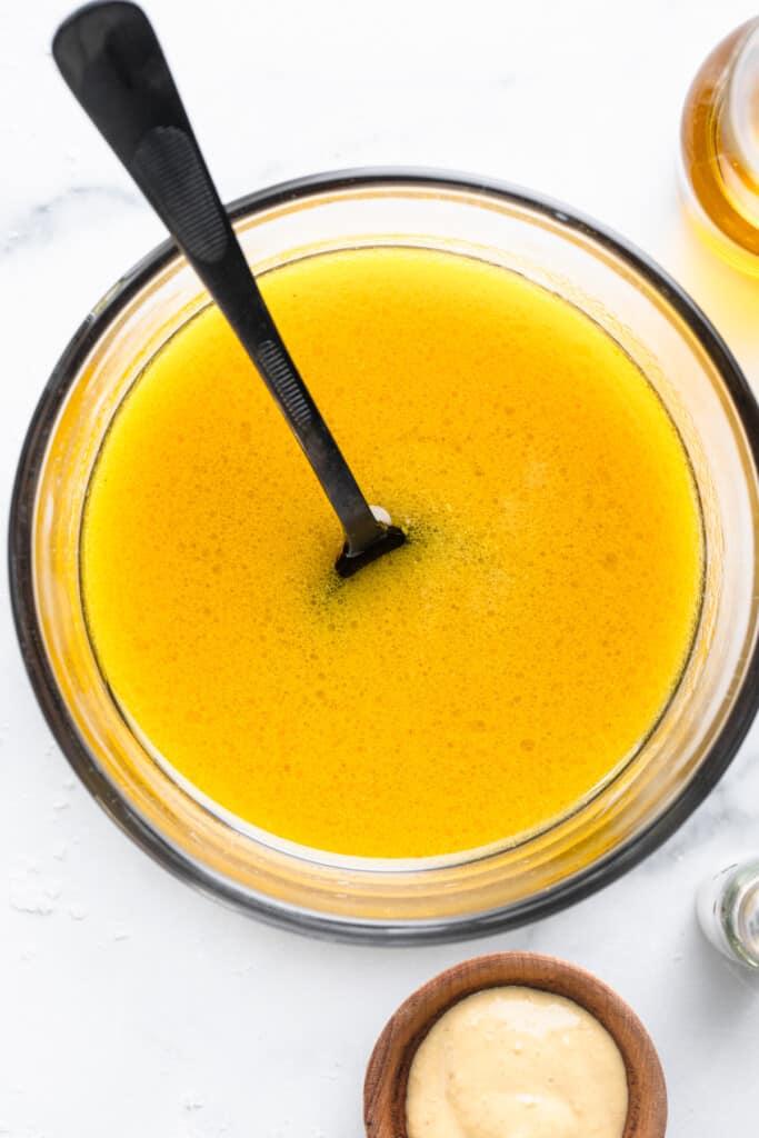 Apple Cider Vinegar Dressing in a bowl