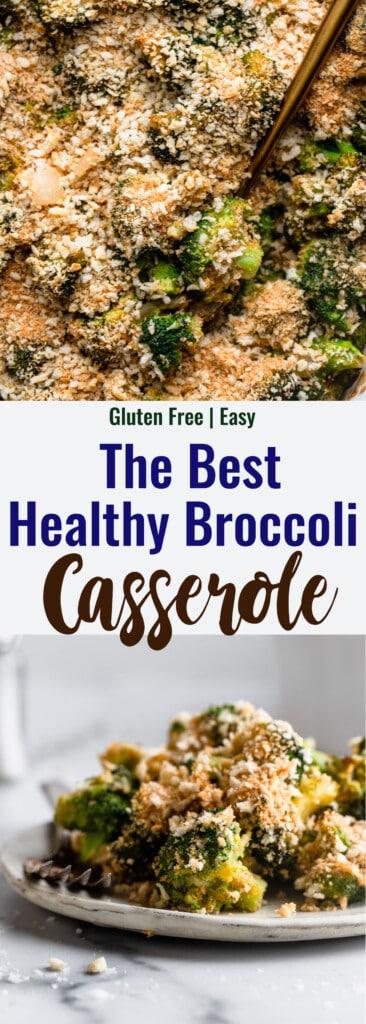 Healthy Broccoli Casserole collage photo
