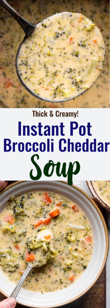 Instant Pot Broccoli Cheddar collage photo
