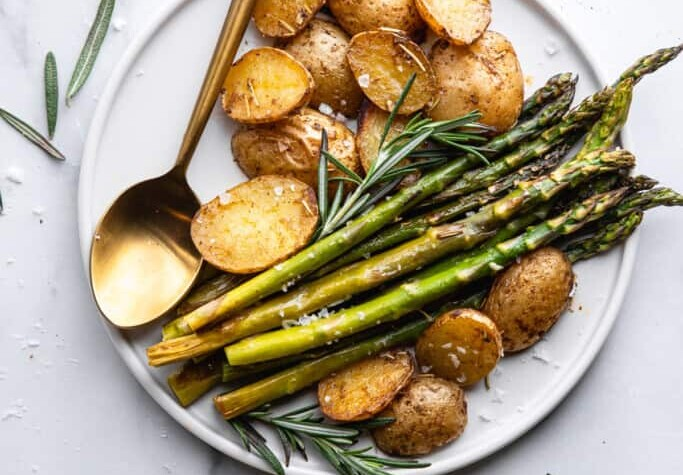 Roasted Potatoes and Asparagus image 683x1024 1