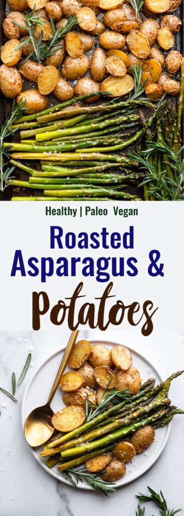 Roasted Potatoes and Asparagus collage photo