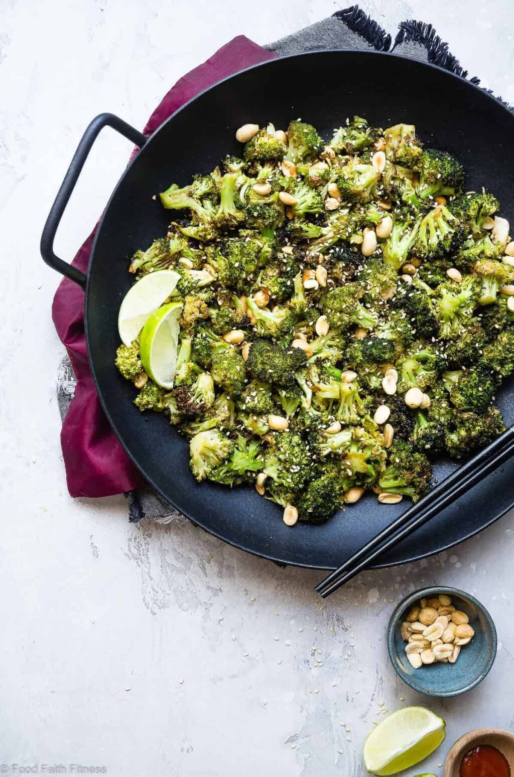 air fryer roasted asian broccoli pic