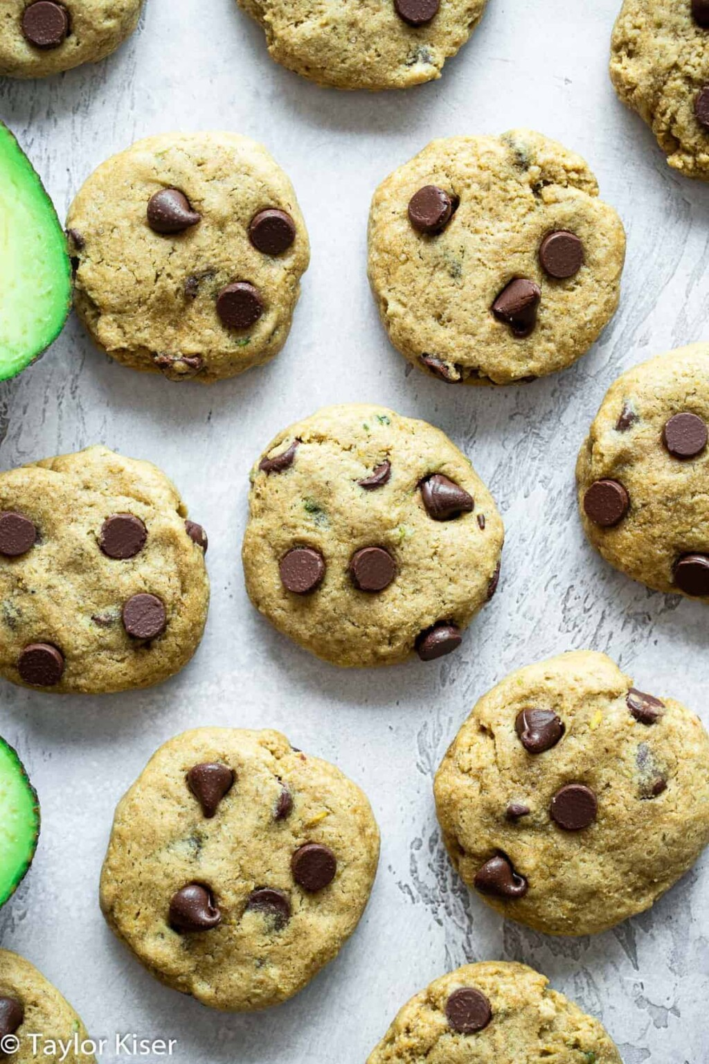 avocado chocolate chip cookies pic