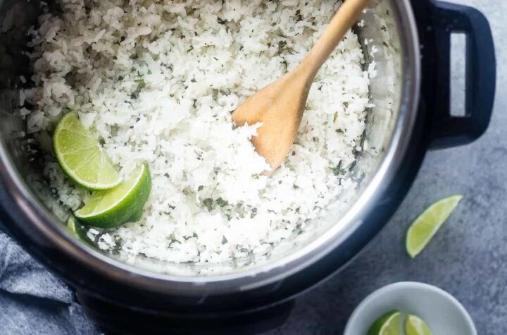 cilantro lime instant pot rice picture