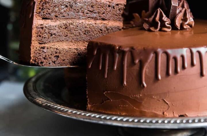 making paleo chocolate avocado cake with coconut flour photo