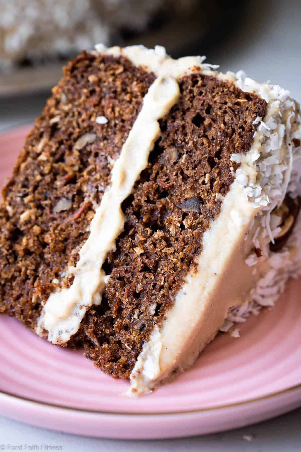 Paleo Carrot Cake - This dairy, grain and gluten free, Paleo Carrot Cake with Almond Flour has a luscious cashew