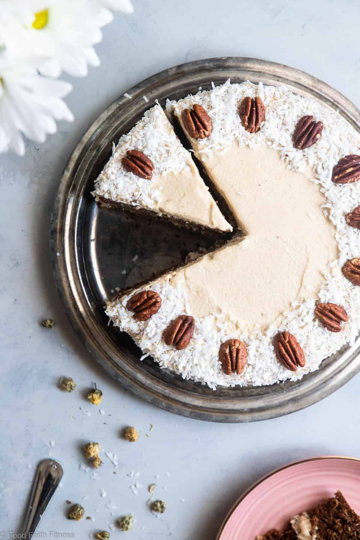 Paleo Carrot Cake - This dairy, grain and gluten free, Paleo Carrot Cake has a luscious cashew