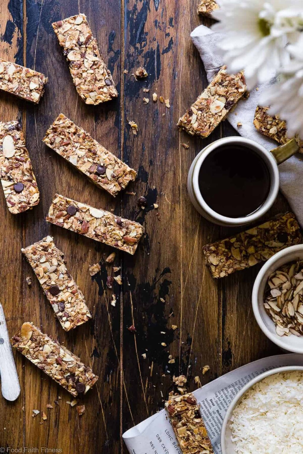 sugar free keto low carb granola bars pic