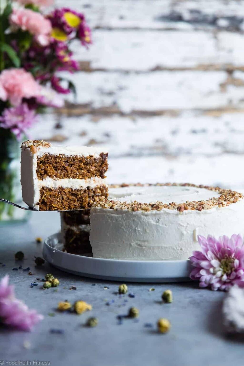 vegan gluten free dairy free carrot cake pic