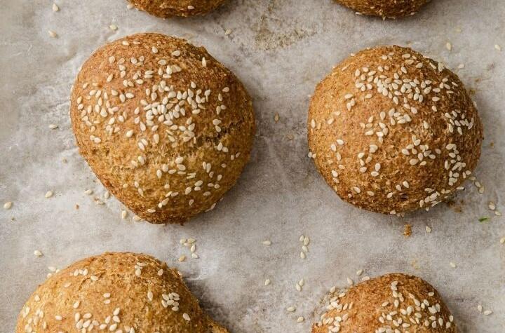 Keto Fluffy Almond Flour Burger Rolls portrait 2 720px x 1080px