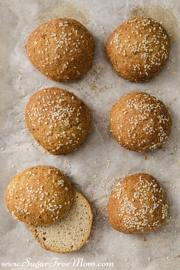 Keto Fluffy Almond Flour Burger Rolls portrait 2 720px x