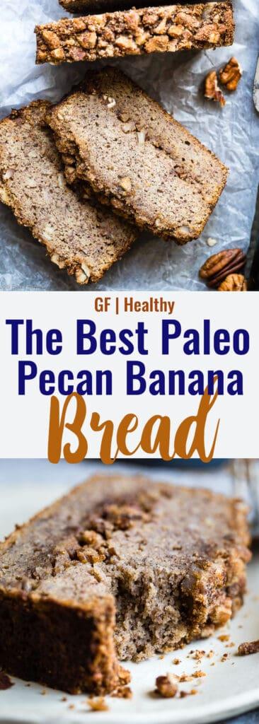 Paleo Coconut Flour Banana Bread collage photo