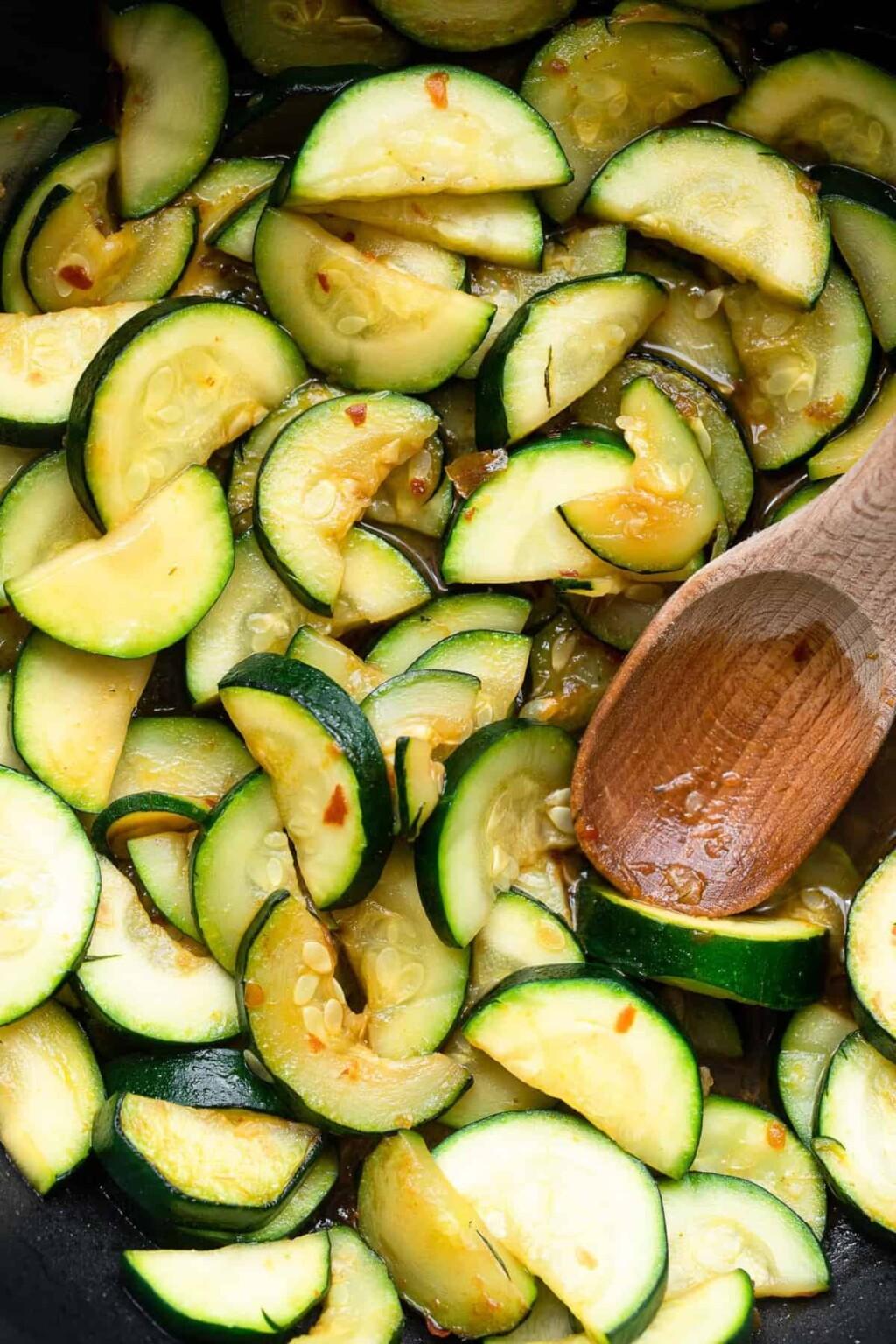 chinese spicy zucchini stir fry photo