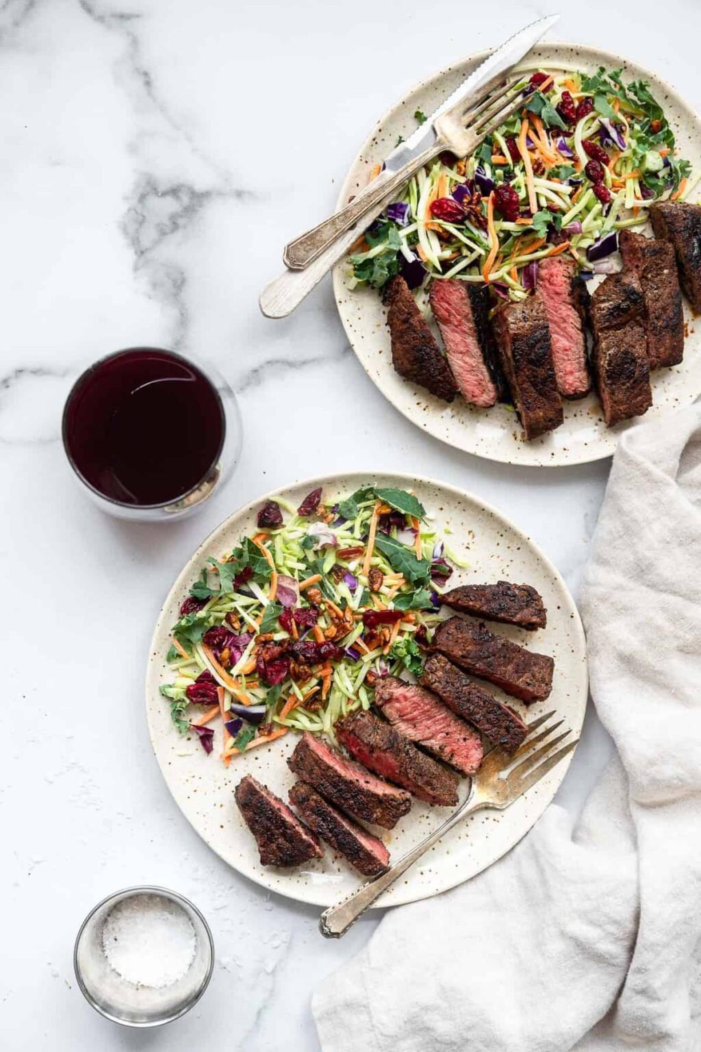 simple coffee rubbed steak image