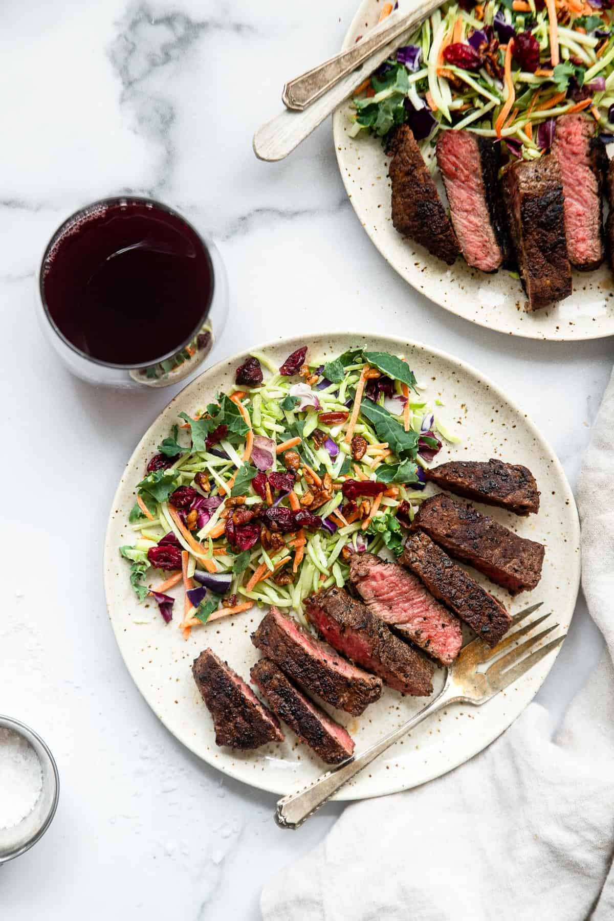 Simple coffee rubbed steak