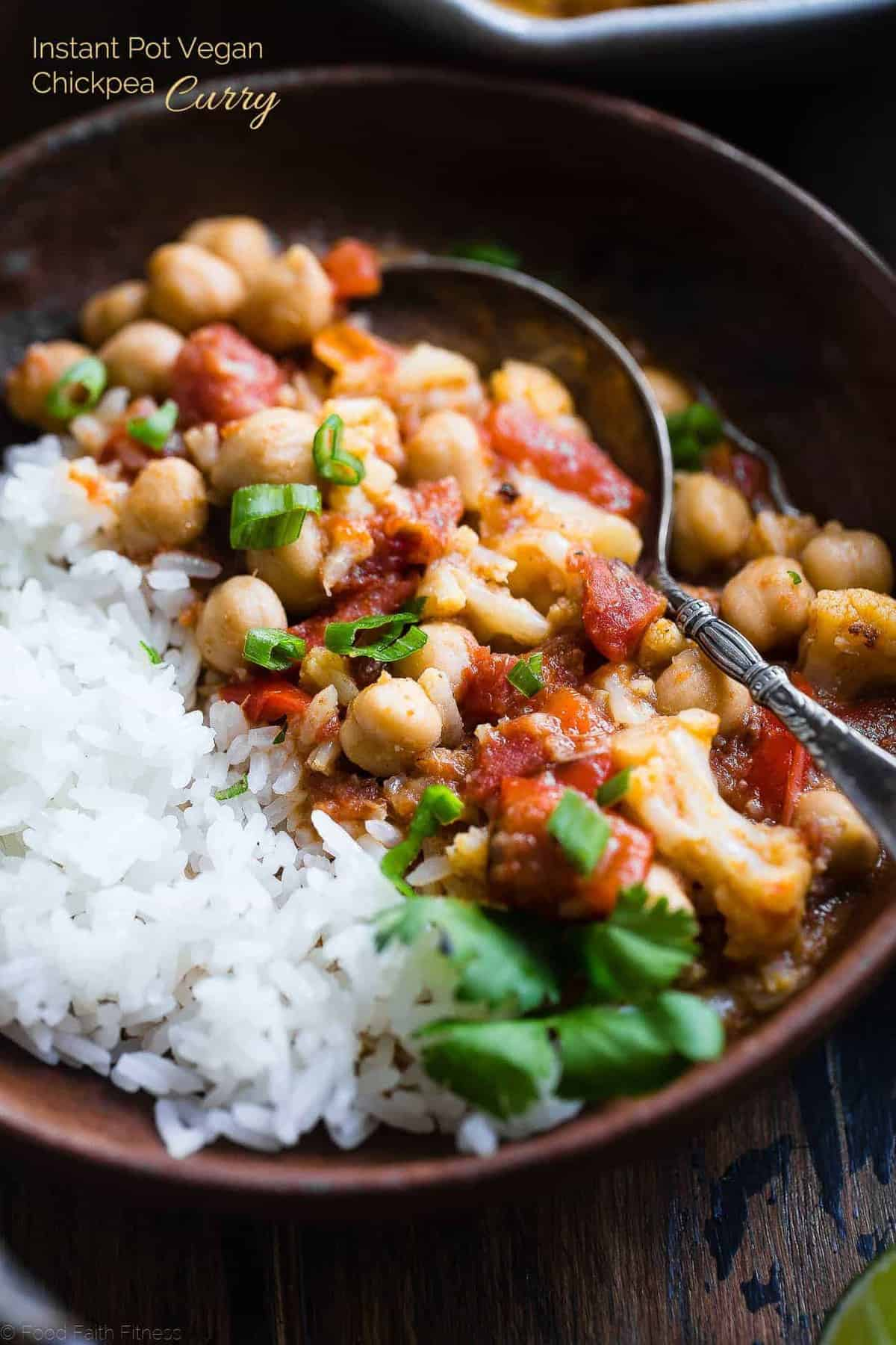 vegan chickpea curry image