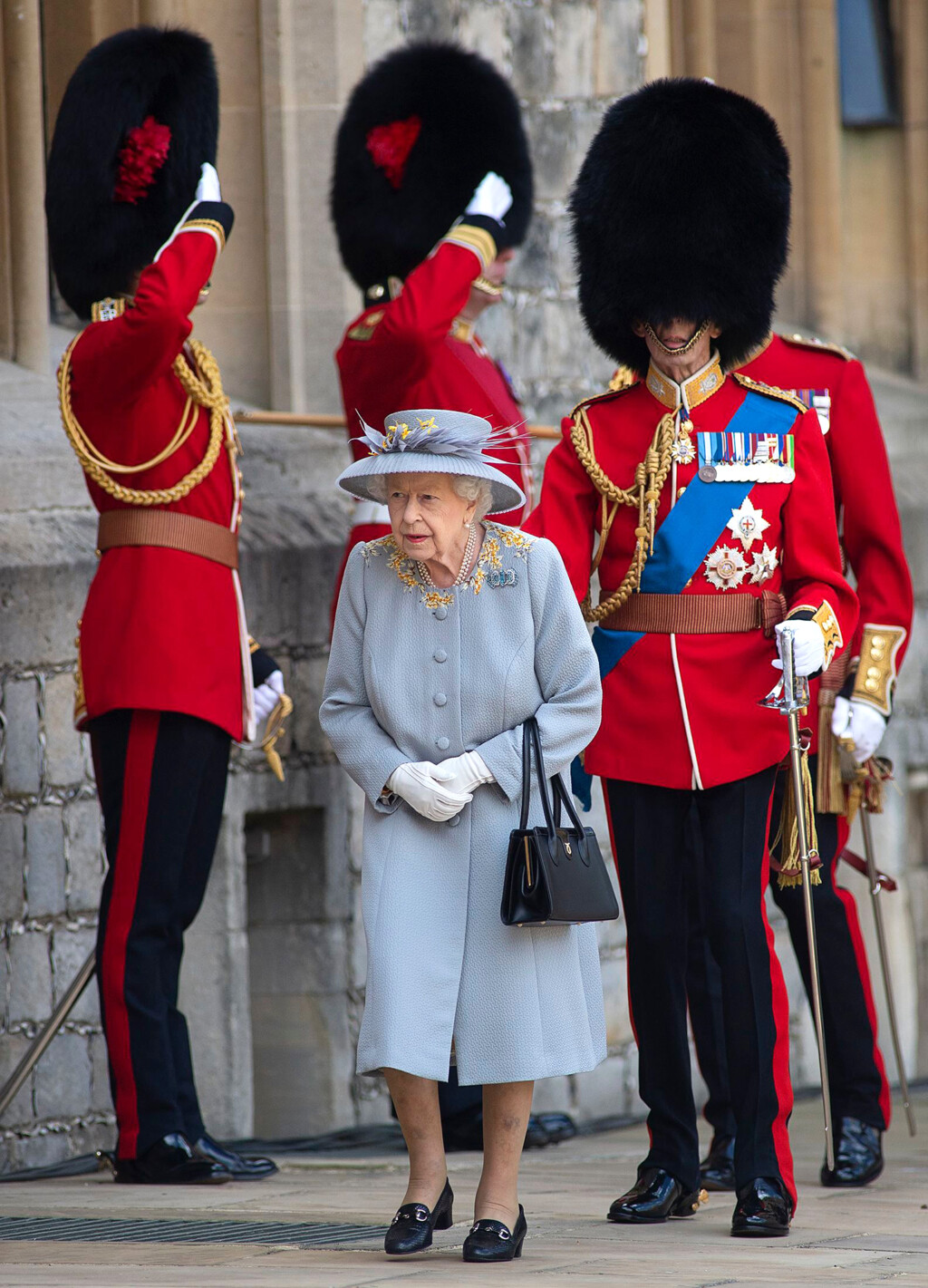 Queen Elizabeth Celebrates Trooping of the Colour Without the Royal Family 05