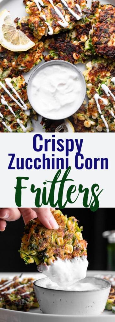 Zucchini Corn Fritters collage photo