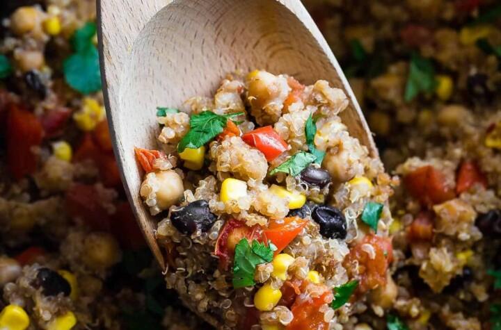 one pan mexican quinoa casserole photograph