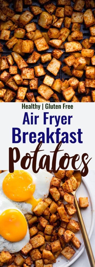 Air Fryer Breakfast Potatoes collage photo