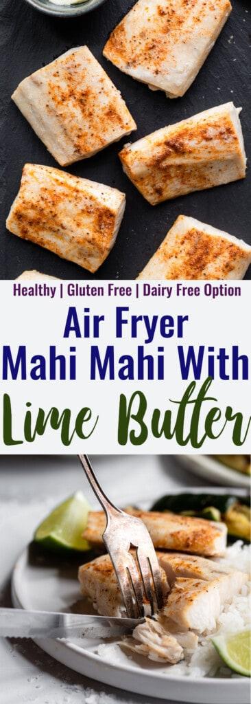 Air Fryer Mahi Mahi collage photo