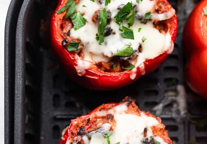 Air Fryer Stuffed Peppers pic 683x1024 1