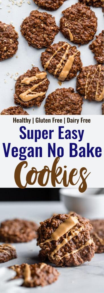 Vegan No Bake Cookies collage photo