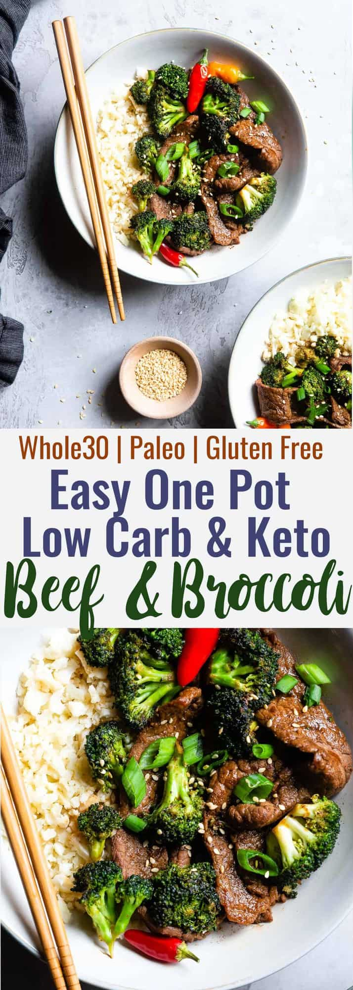 Keto Beef and Broccoli collage photo