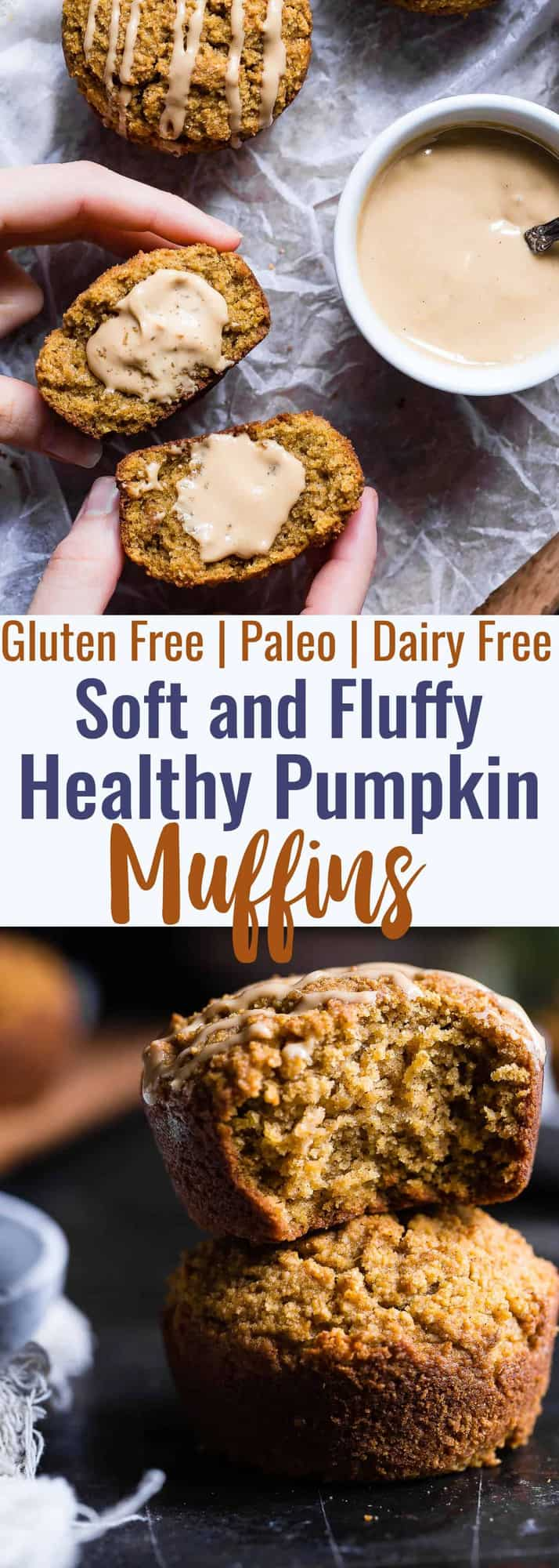 Paleo pumpkin muffins -These quick and easy, healthy almond flour pumpkin muffinsare SO spicy-sweet and FLUFFY! A yummy, fall breakfast or snack that kids or adults will LOVE! | #Foodfaithfitness | #Glutenfree #Paleo #Healthy #Pumpkin #Muffins