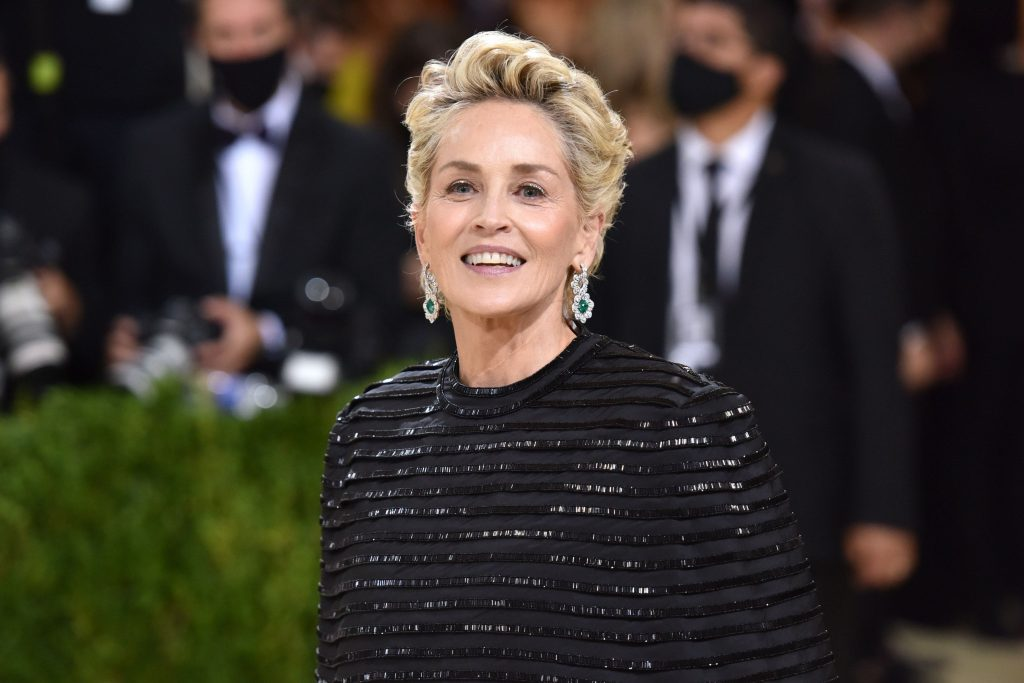 sharon stone attends 2021 costume institute benefit in news photo 1632234545